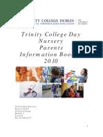 Trinity College Day Nursery Booklet 2010