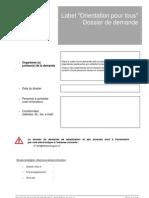 Dossier type de Demande de Labellisation Bourgogne