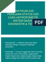 Praktikum Gizi Penilaian Status Gizi Cara Antropometrik