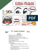 komiki lehiaketa 2012