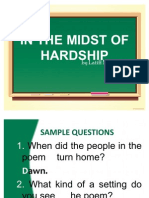 In the Midst of Hardship-questions
