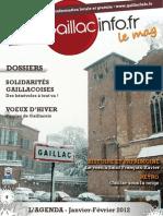 Gaillacinfo Le Mag n°8 - Janvier 2012