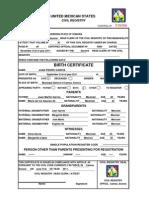 Mexican nl birth certificate translation model birth certificate english yadclub Choice Image