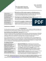Manufacturing Sample Resume