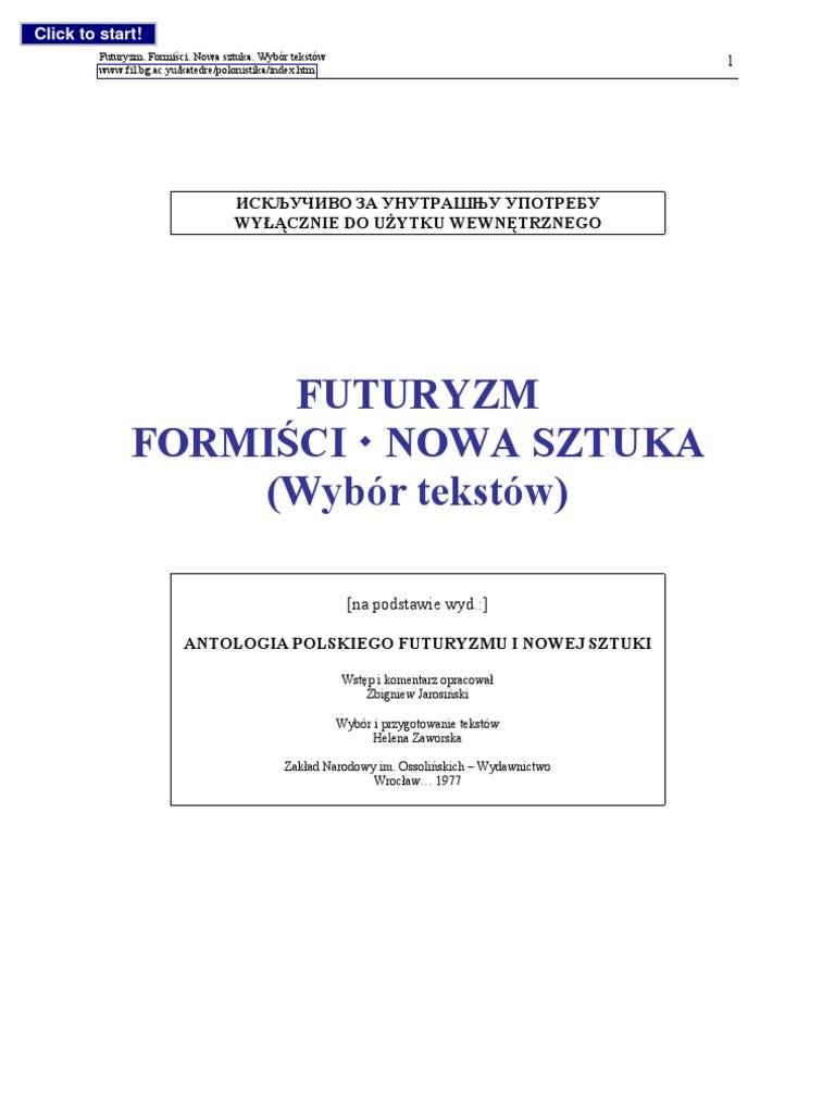 Futuryzm Teksty Programowe