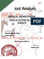 Radical Monotheism