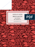 Hesse, Hermann - Boccaccio - Der Dichter Des Dekameron
