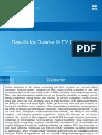 TCS Analysts Q3 12