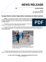 USACE Europe District Worker Helps Deliver Donations to Kabul Orphans
