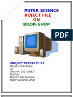 Book Shop Project File
