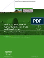 Post 2013 EU Common Agricultural Policy, Trade and Development