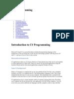 C# Programming Tuutorials