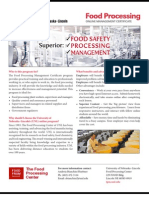 Food Processing Management Certificate