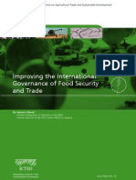Improving the International Governance of Food Security and Trade