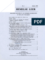 De HEMELSE LEER Magazine NEW SERIES--Contents of N°1-2-3-4--The Hague 2001