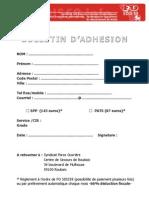 Bulletin Adhesion