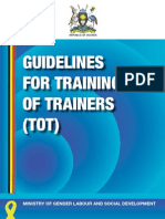 Training of Trainers Guidelines