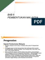 Bab 6 Pembentukan Malaysia (Dip)