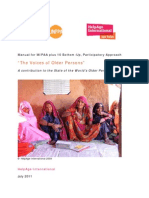 Manual for MIPAA plus 10 bottom-up, participatory approach