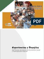 Experiencias y desafíos del proceso de Desarrollo Económico Local y Participación Popular.
