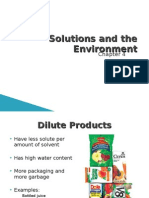Solutions and the Environment- Science 14