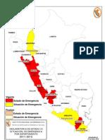 Mapa Declaratoria de Estado de Emergencia DEE (16.01.2012)