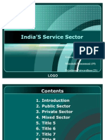 India'S Service Sector PPT