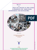 Chemical Safety Report on Inventorization of E-waste in Two Cities in Andhra Pradesh and Karnataka