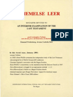 DE-HEMELSE-LEER-An-Independant-Swedenborgian-Journal-NEW-SERIES-N°1-The-Hague-January-2001
