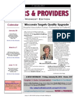Payers & Providers Midwest Edition -- Issue of January 17, 2012