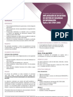 Hoja Informativa del Programa Óptica ISO 27001:2005