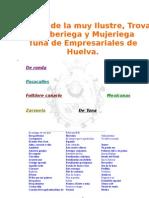 16871529 Cancionero de La Tuna de Em Pre Sari Ales de Huelva