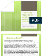 Técnicas de negociación asistidas- Mediación y arbitraje