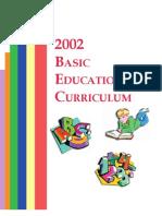 2002 Basic Education Curriculum