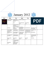 Shortcut to January 12 Calendar