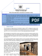 9 - 22 October 2008 | OCHA Kenya Humanitarian Update Volume 38 | Ms Word Format