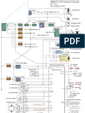 R1100RT Elec Diagram | Anti Lock Braking System | Wheeled VehiclesScribd