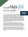Solar Energy in Bangladesh