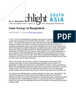 Solar Energy in Bangladesh
