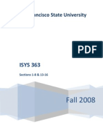 ISYS 363 Syllabus