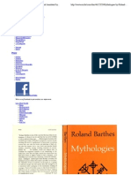 Mythologies by Roland Barthes, As Selected and Translated by Annette Lavers