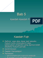 Bab 5 - Kaedah-Kaedah Fiqh
