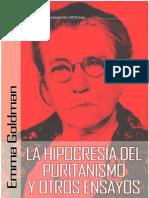 Emma Goldman - La hipocrecía del puritanismo y otros ensayos