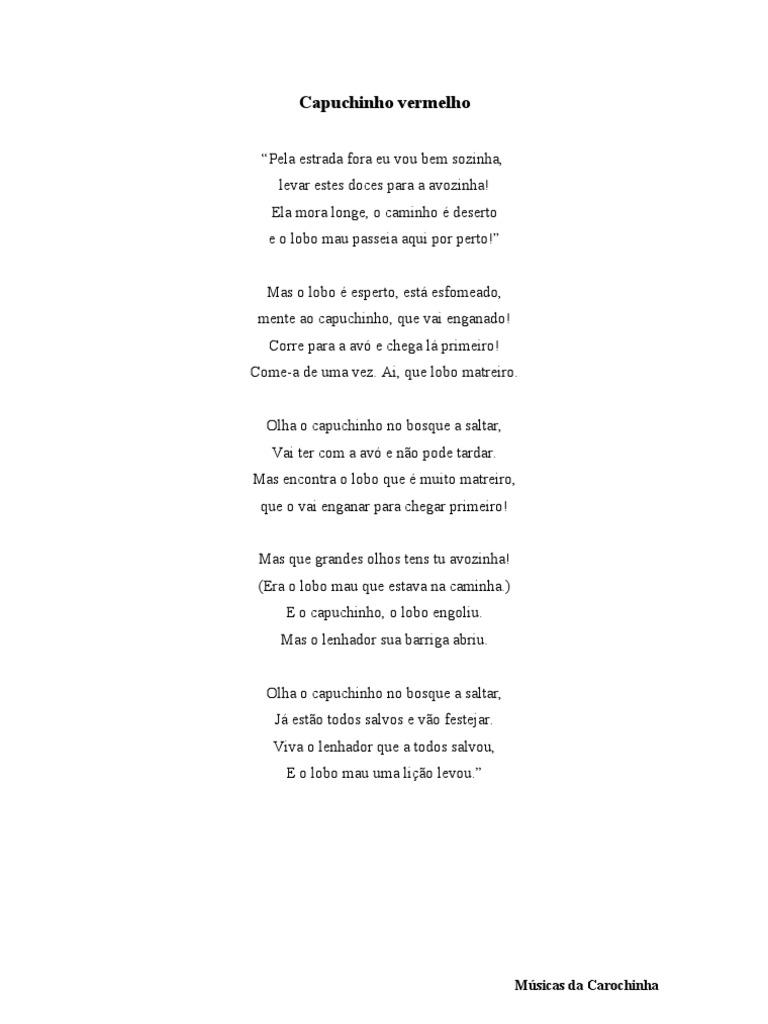 Música Do Capuchinho Vermelho