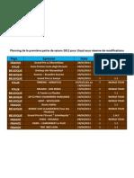 Planning Du 1er Semestre 2012 Lloyd