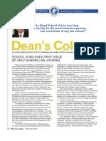 Dean's Column