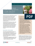 Achieving Nutritional Impact and Food Security through Agriculture