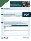Nutritional Impact Assessment Tool (Worksheet)