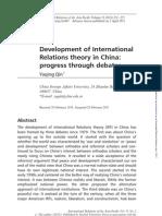 Development of IR Theory in China