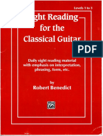 Sight Reading for Classical Guitar Vol 1